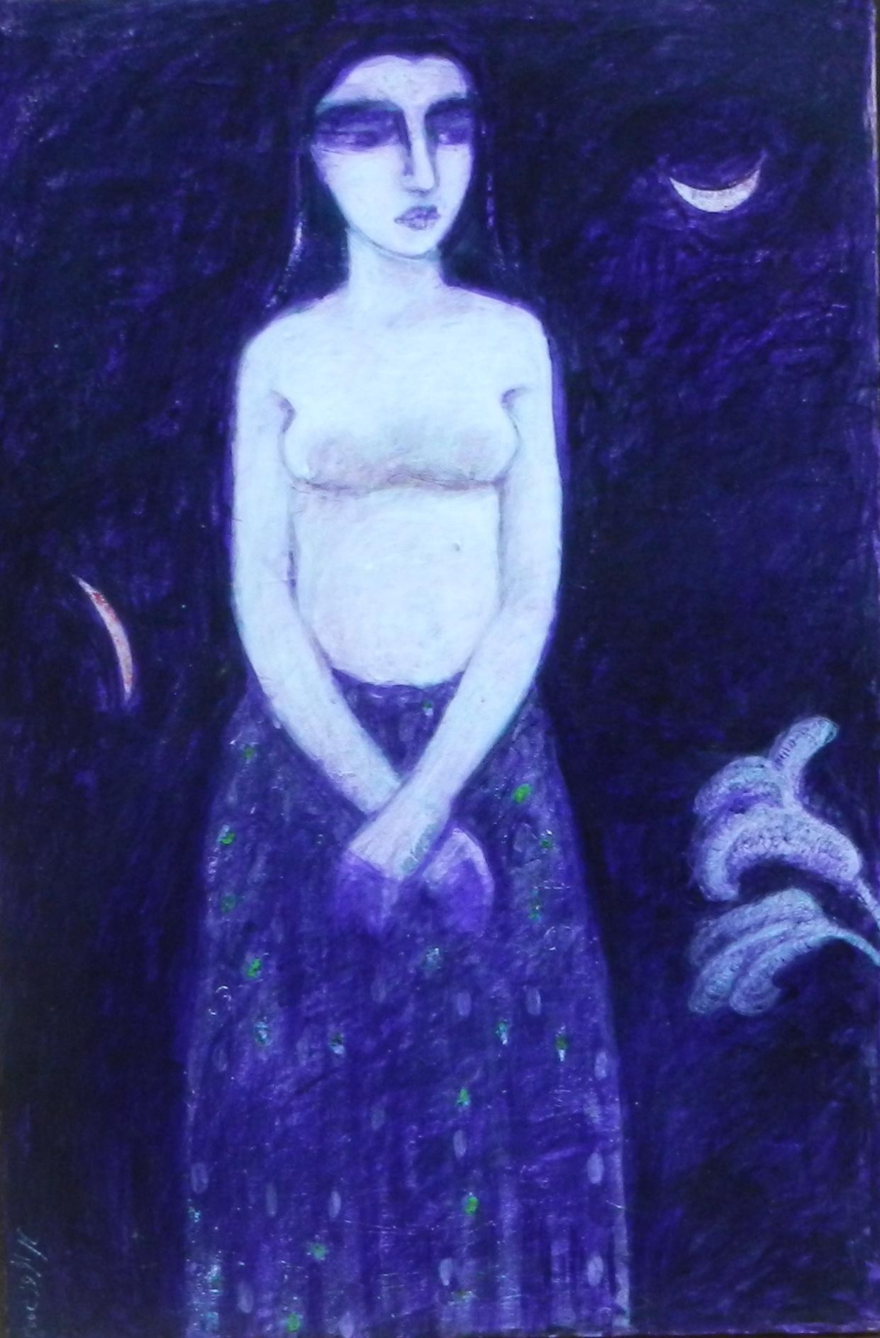Mehr Afroz (Oil On Canvas) 30'' X 20''